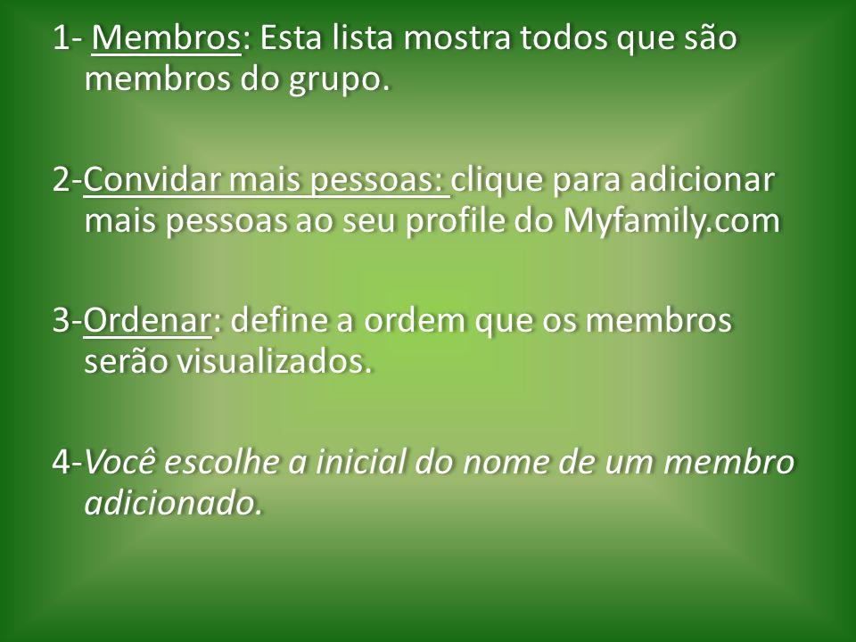 1- Membros: Esta lista mostra todos que são membros do grupo