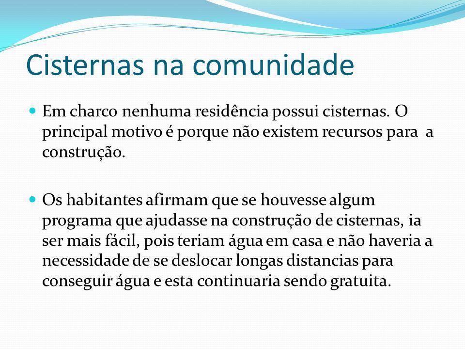 Cisternas na comunidade