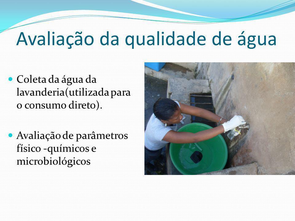 Avaliação da qualidade de água