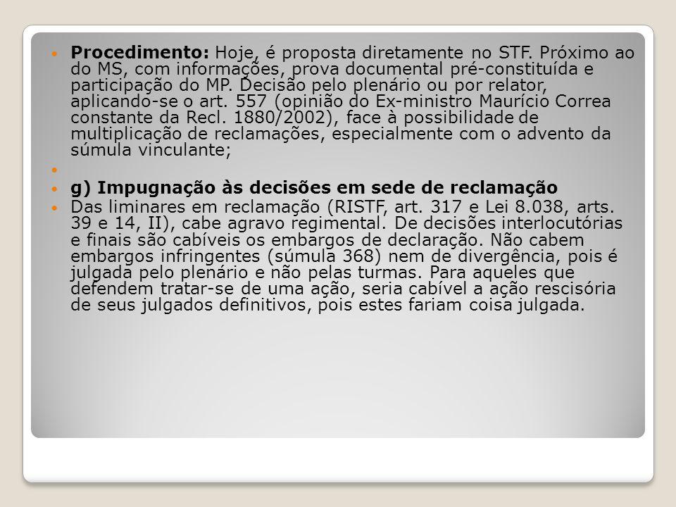 Procedimento: Hoje, é proposta diretamente no STF
