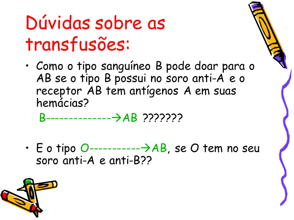 Dúvidas sobre as transfusões: