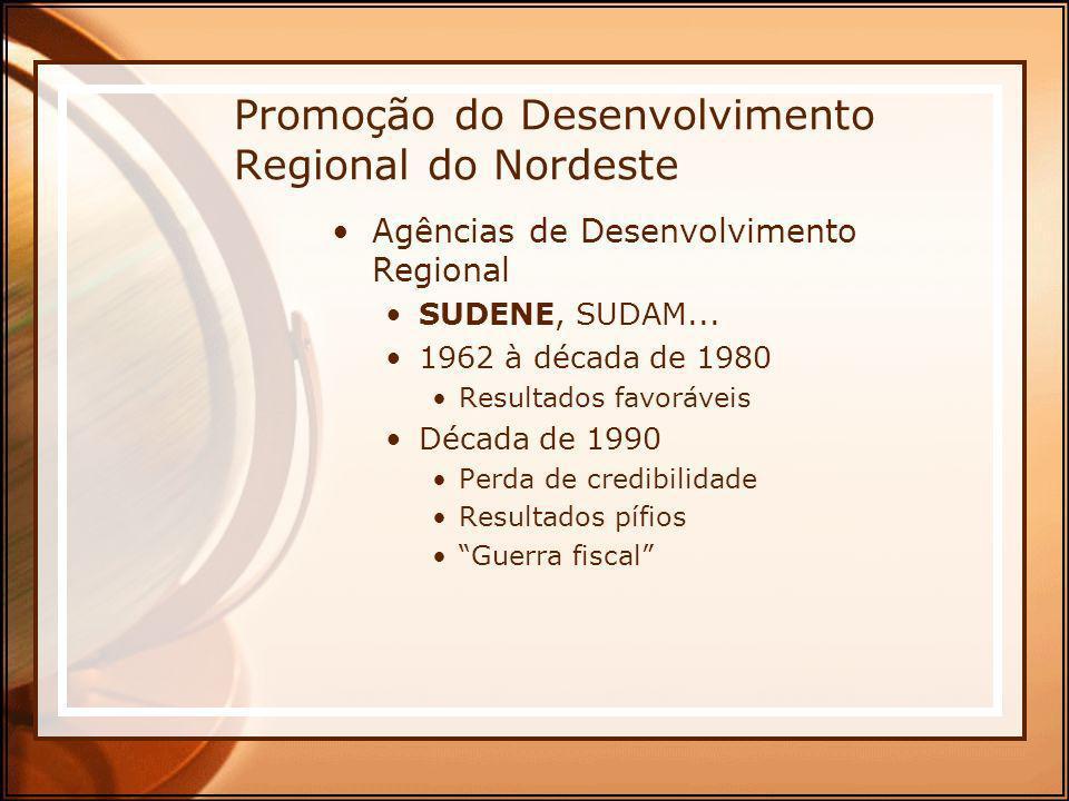 Promoção do Desenvolvimento Regional do Nordeste