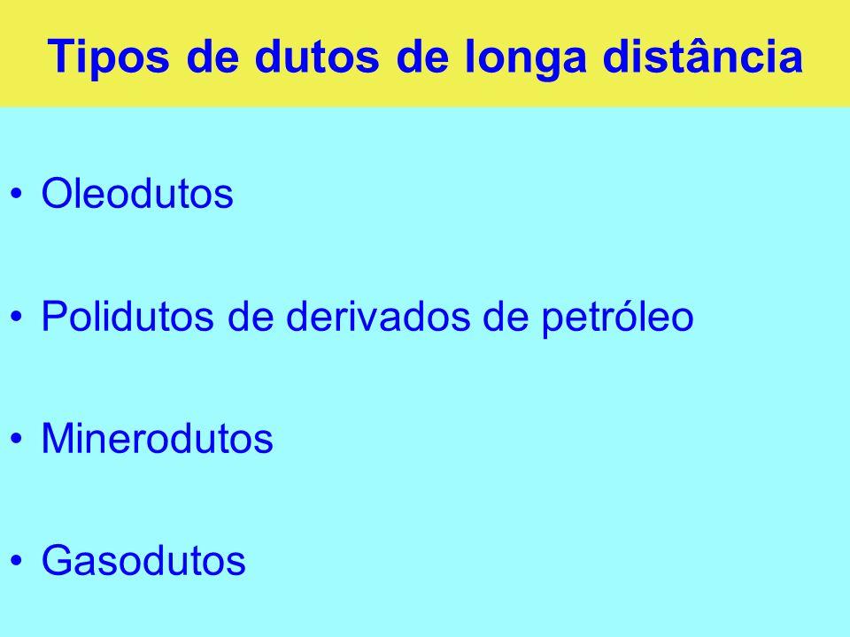 Tipos de dutos de longa distância