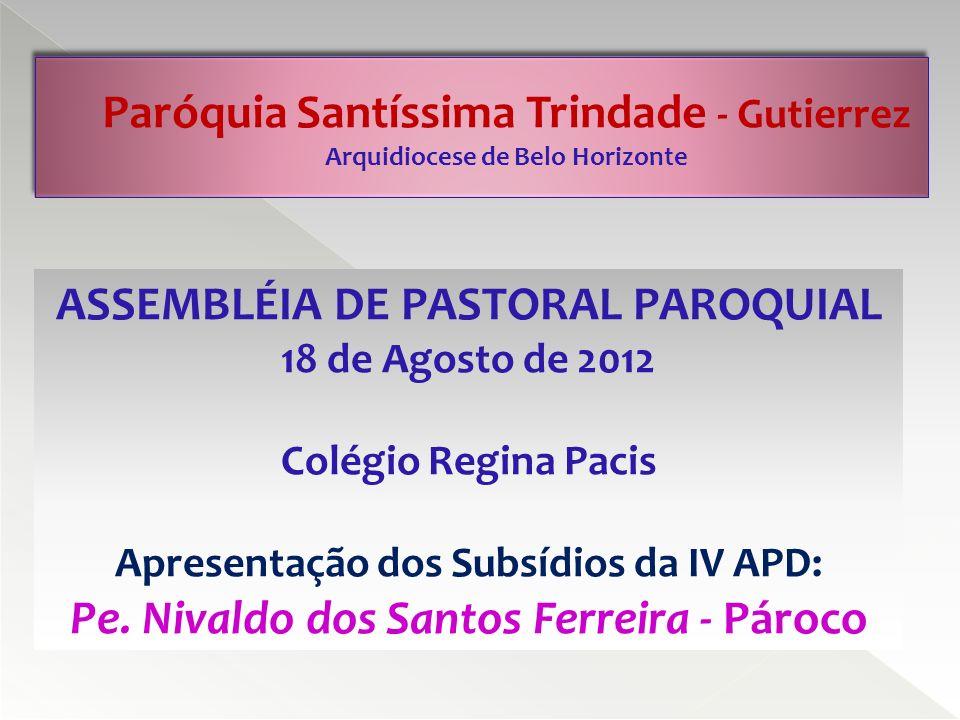 ASSEMBLÉIA DE PASTORAL PAROQUIAL