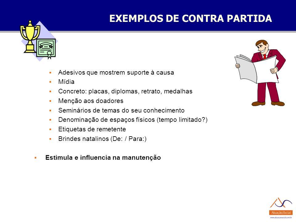 EXEMPLOS DE CONTRA PARTIDA