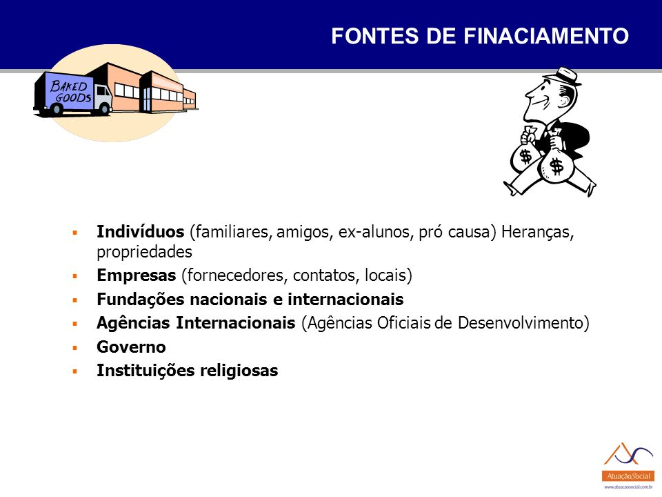 FONTES DE FINACIAMENTO