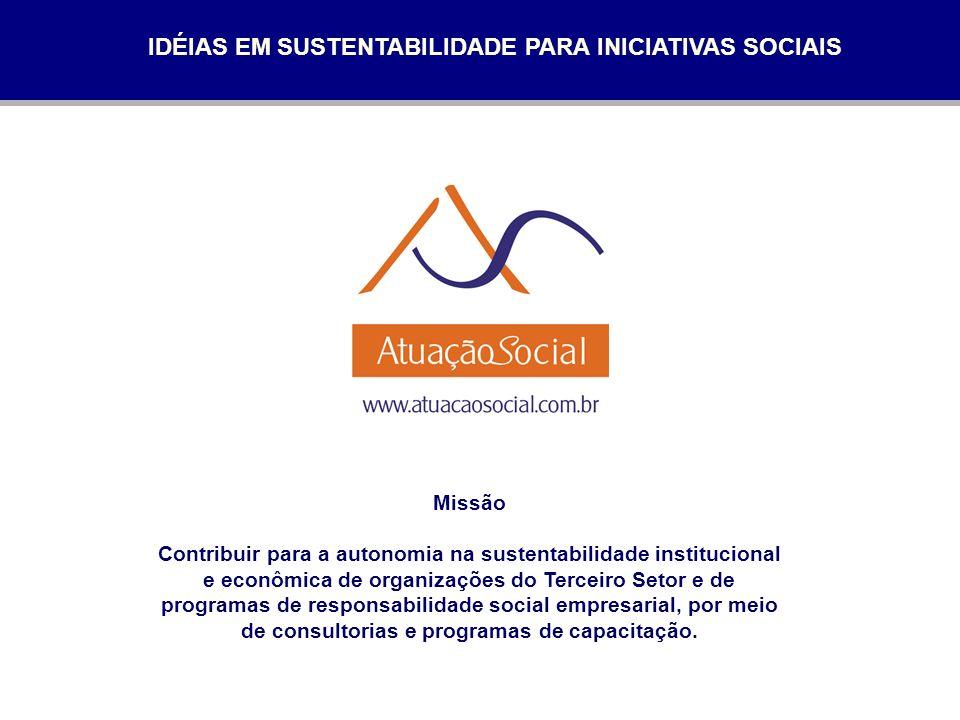 IDÉIAS EM SUSTENTABILIDADE PARA INICIATIVAS SOCIAIS