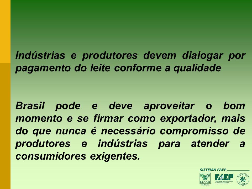 Indústrias e produtores devem dialogar por pagamento do leite conforme a qualidade