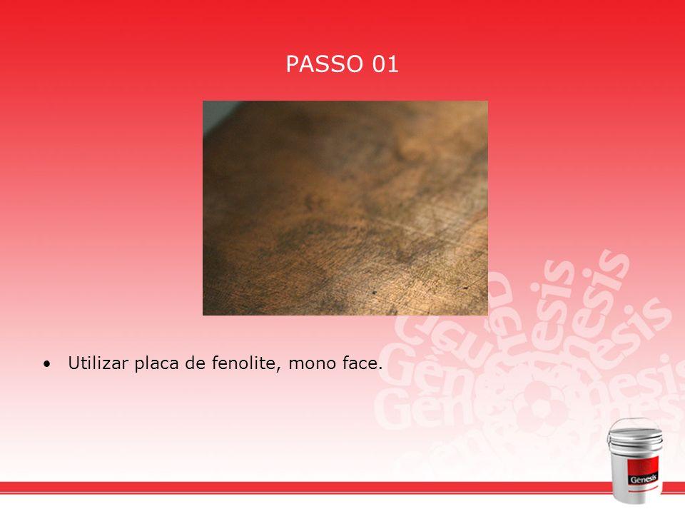 PASSO 01 Utilizar placa de fenolite, mono face.