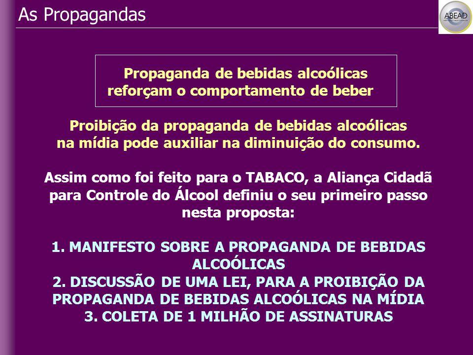 As Propagandas Propaganda de bebidas alcoólicas