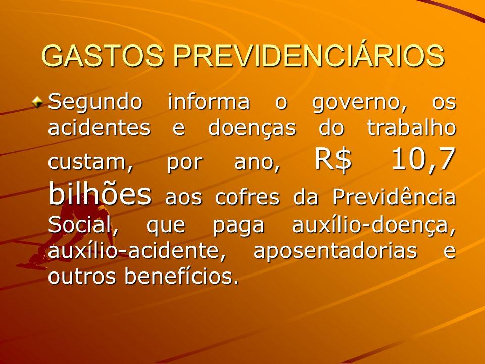 GASTOS PREVIDENCIÁRIOS