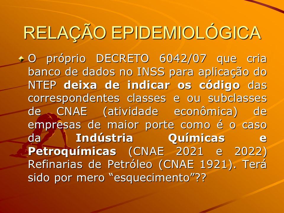 RELAÇÃO EPIDEMIOLÓGICA