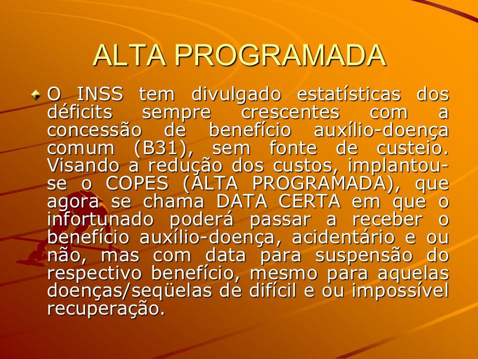 ALTA PROGRAMADA