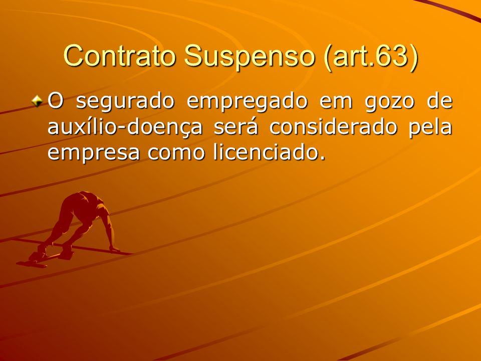 Contrato Suspenso (art.63)