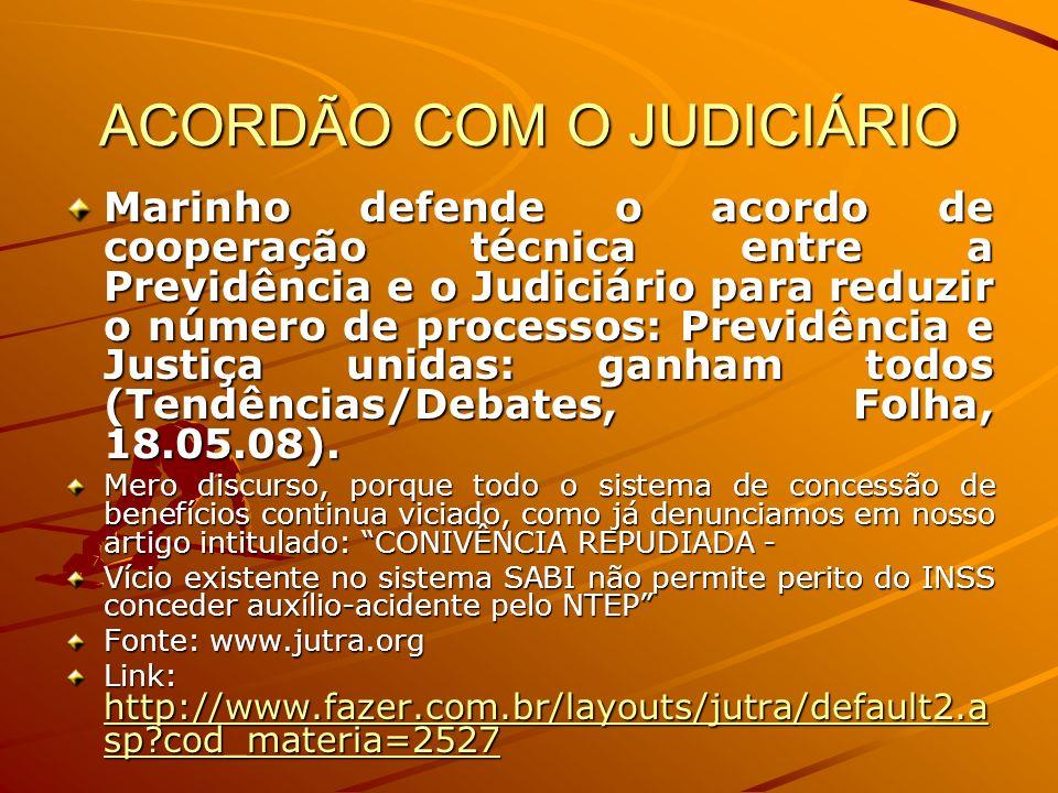 ACORDÃO COM O JUDICIÁRIO