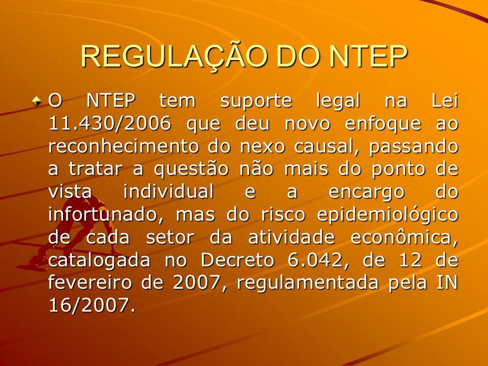REGULAÇÃO DO NTEP
