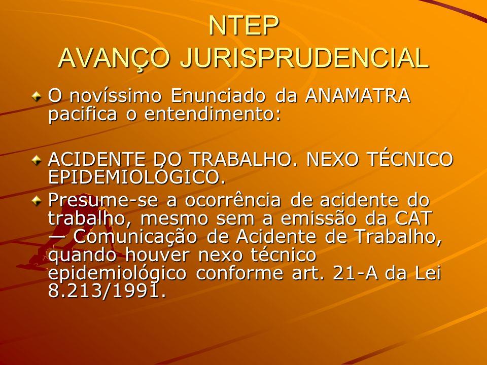 NTEP AVANÇO JURISPRUDENCIAL