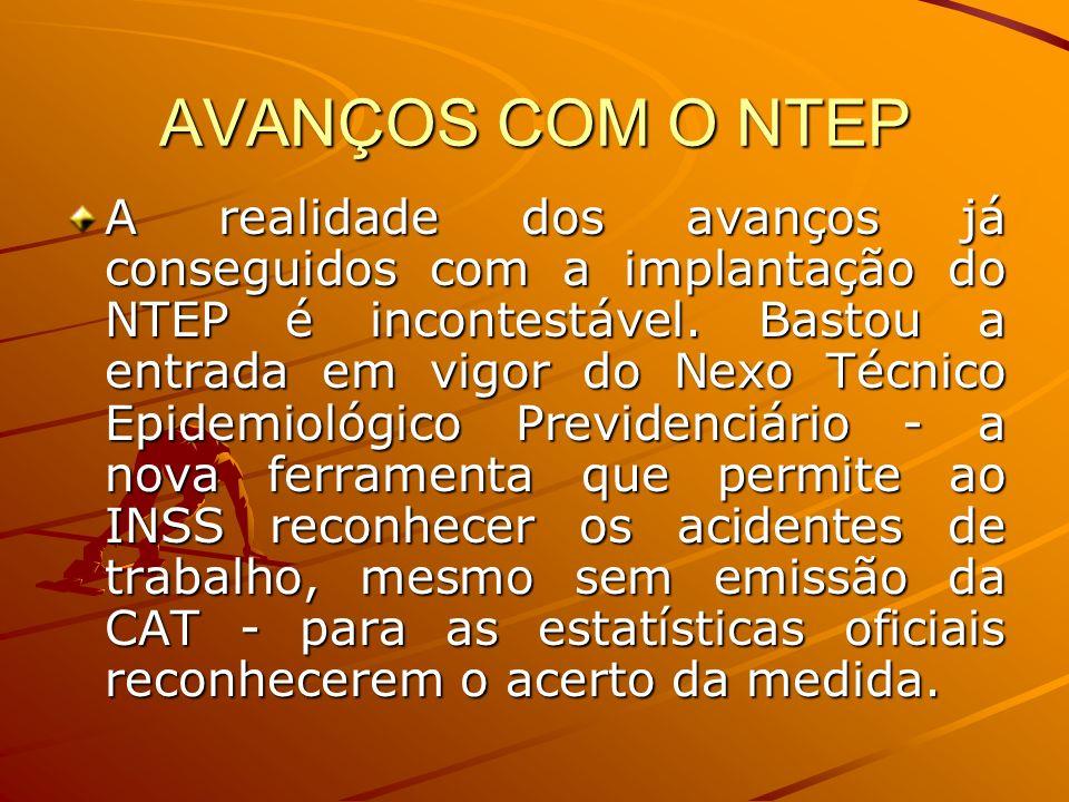AVANÇOS COM O NTEP