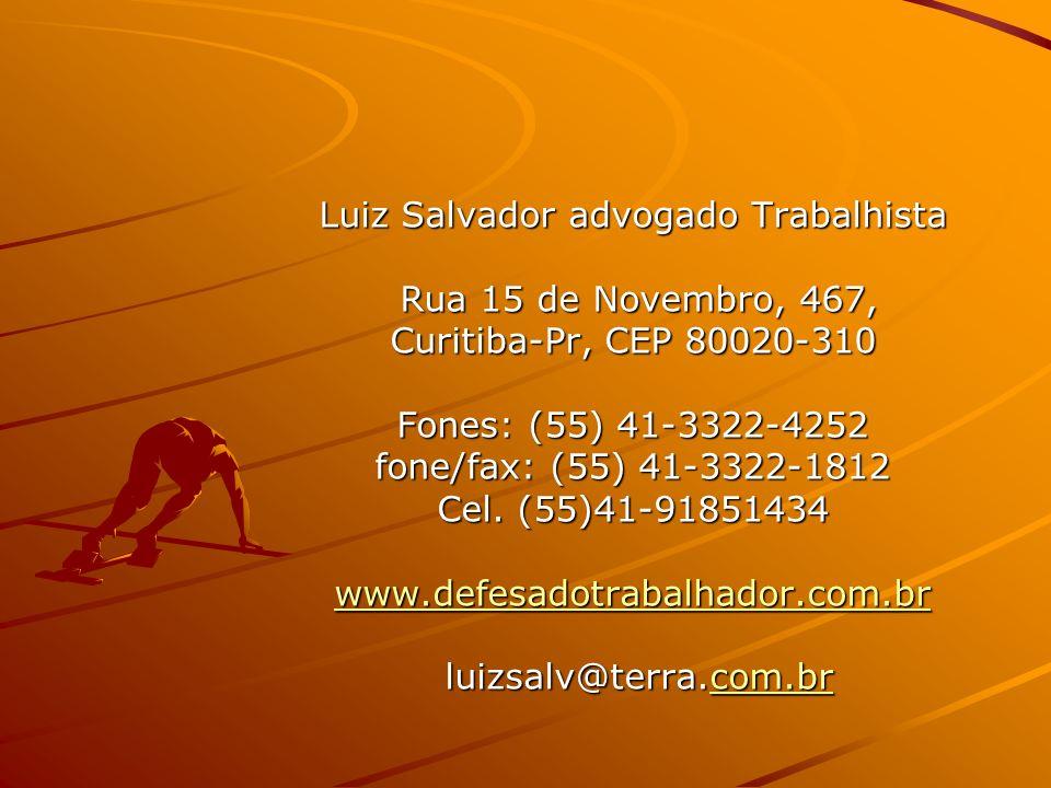Luiz Salvador advogado Trabalhista