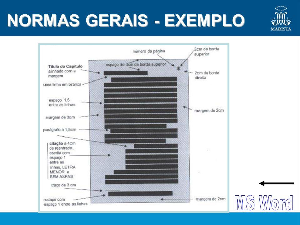 NORMAS GERAIS - EXEMPLO