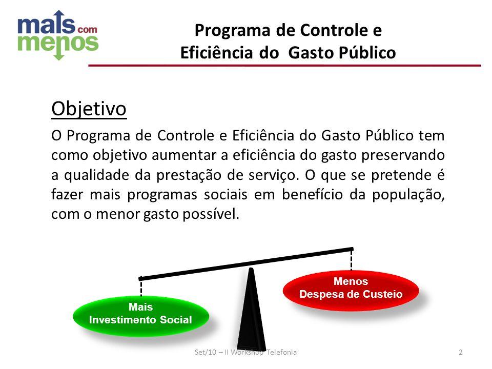 Programa de Controle e Objetivo Eficiência do Gasto Público