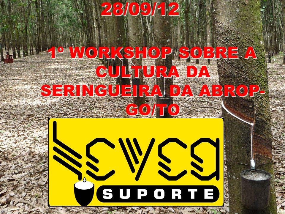 1º WORKSHOP SOBRE A CULTURA DA SERINGUEIRA DA ABROP-GO/TO