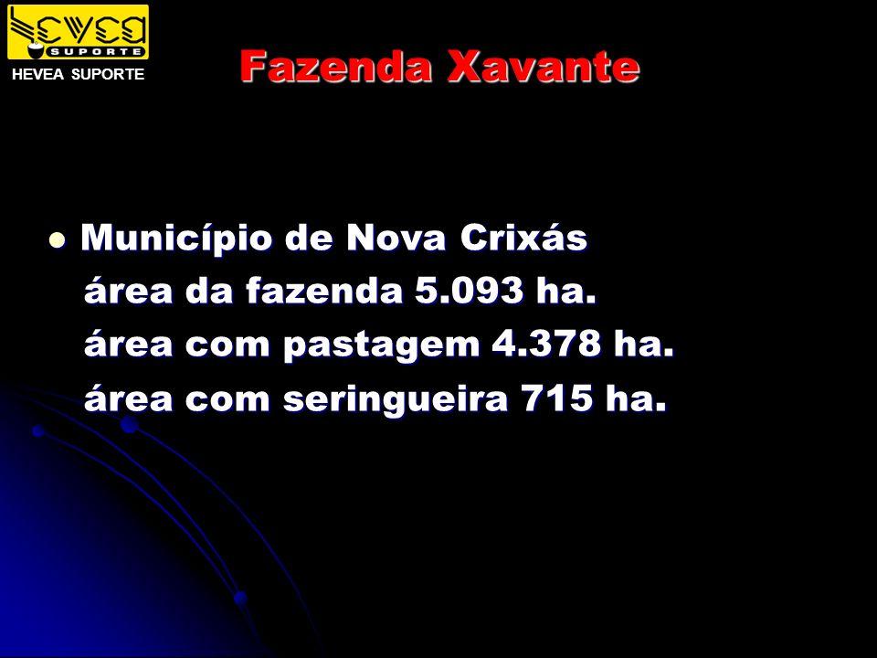 Fazenda Xavante Município de Nova Crixás área da fazenda 5.093 ha.