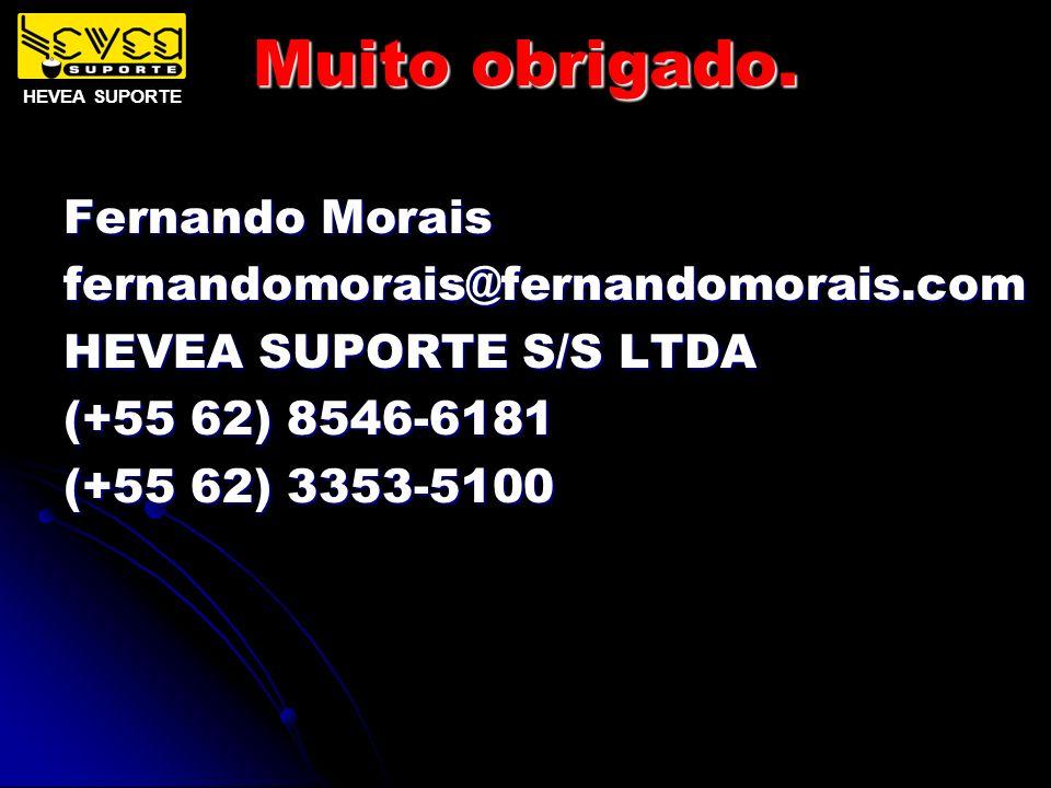 Muito obrigado. Fernando Morais fernandomorais@fernandomorais.com