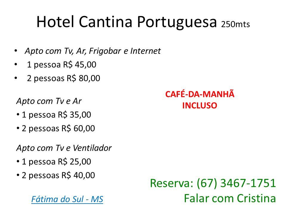 Hotel Cantina Portuguesa 250mts