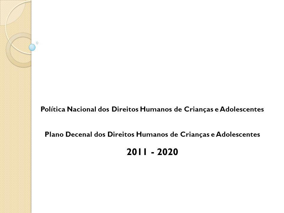 Política Nacional dos Direitos Humanos de Crianças e Adolescentes