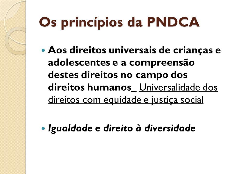 Os princípios da PNDCA