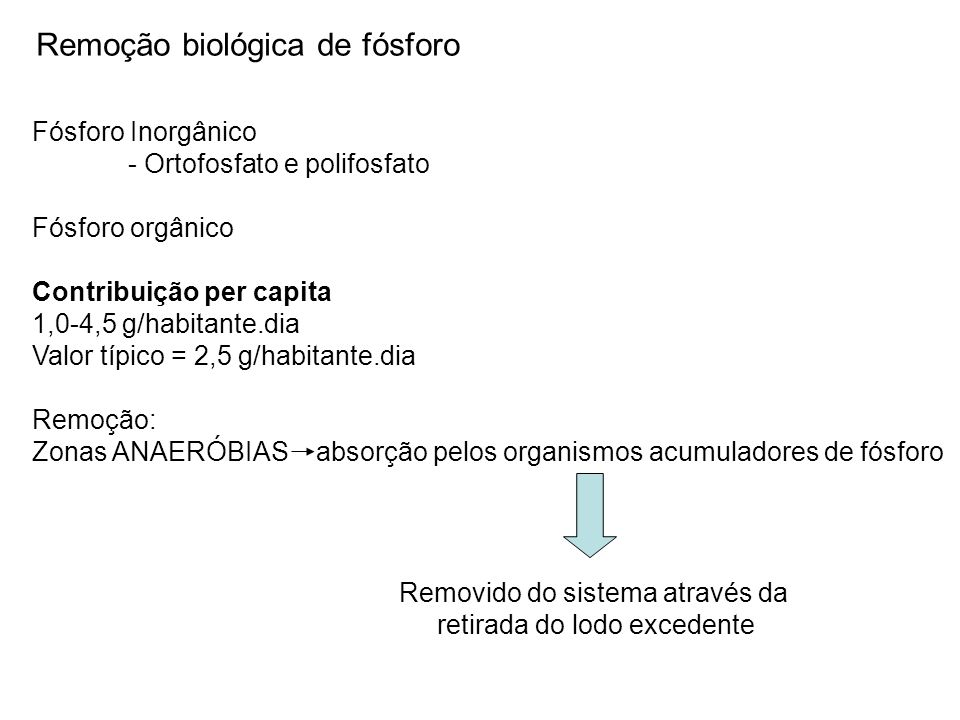 Remoção biológica de fósforo