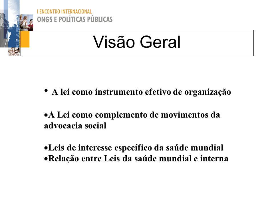 Visão Geral A lei como instrumento efetivo de organização