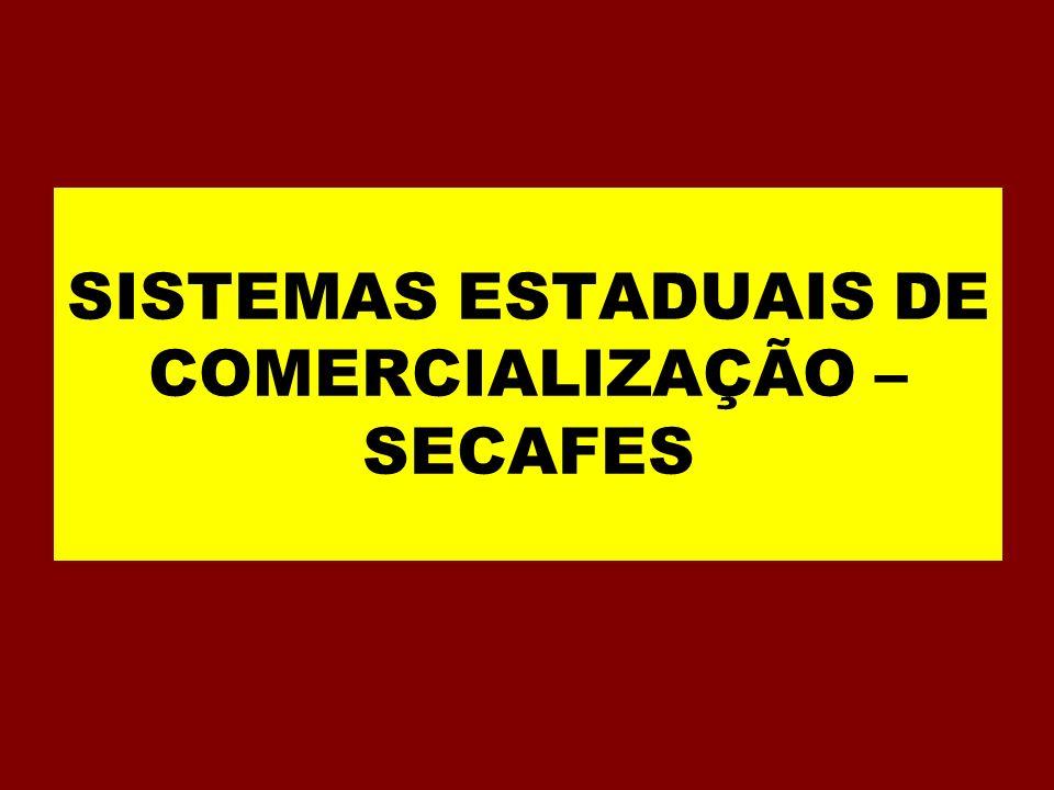 SISTEMAS ESTADUAIS DE COMERCIALIZAÇÃO – SECAFES