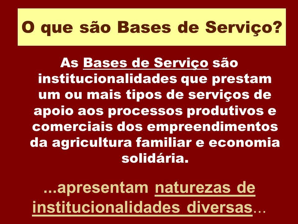 O que são Bases de Serviço