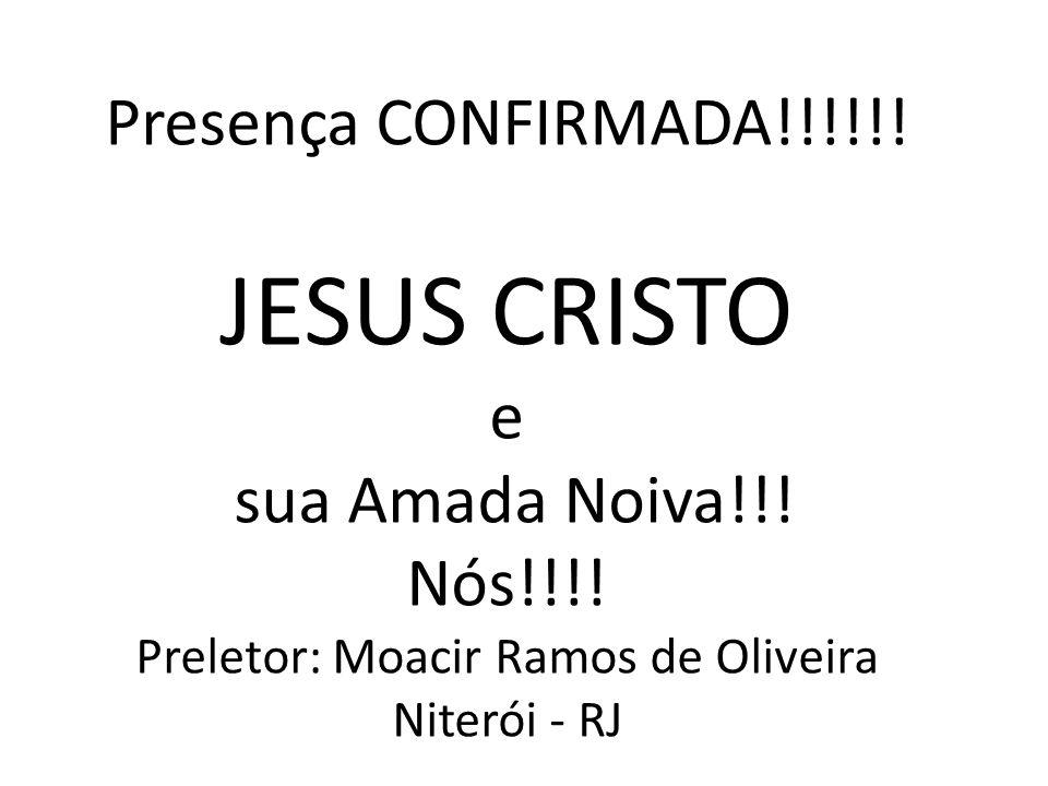 Preletor: Moacir Ramos de Oliveira Niterói - RJ