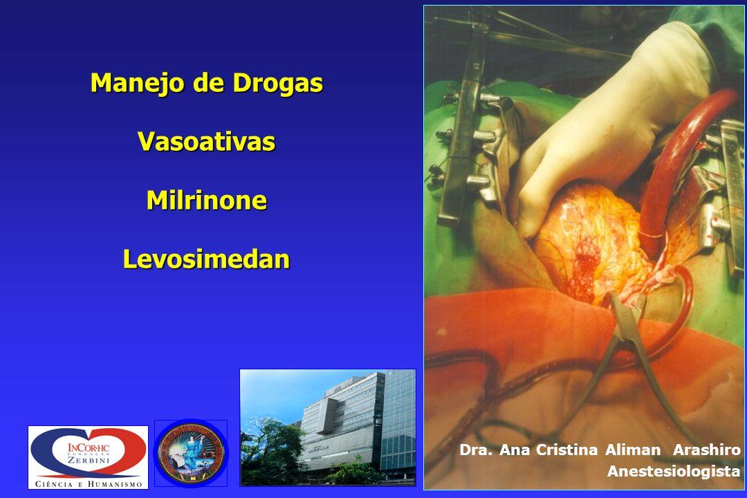 Manejo de Drogas Vasoativas Milrinone Levosimedan
