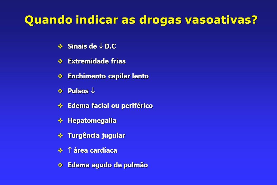 Quando indicar as drogas vasoativas