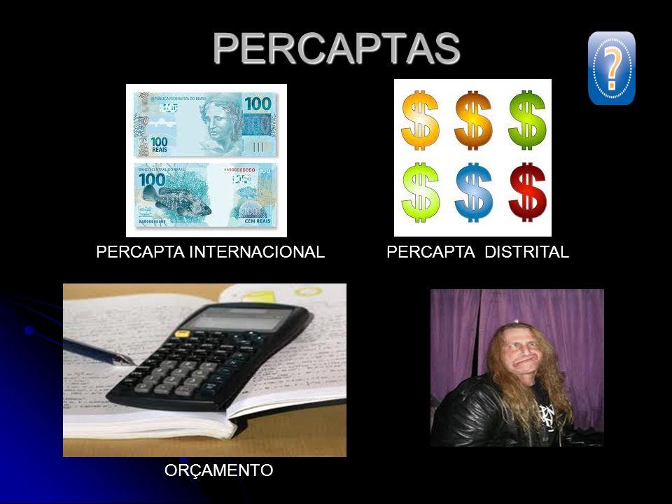 PERCAPTAS PERCAPTA INTERNACIONAL PERCAPTA DISTRITAL ORÇAMENTO