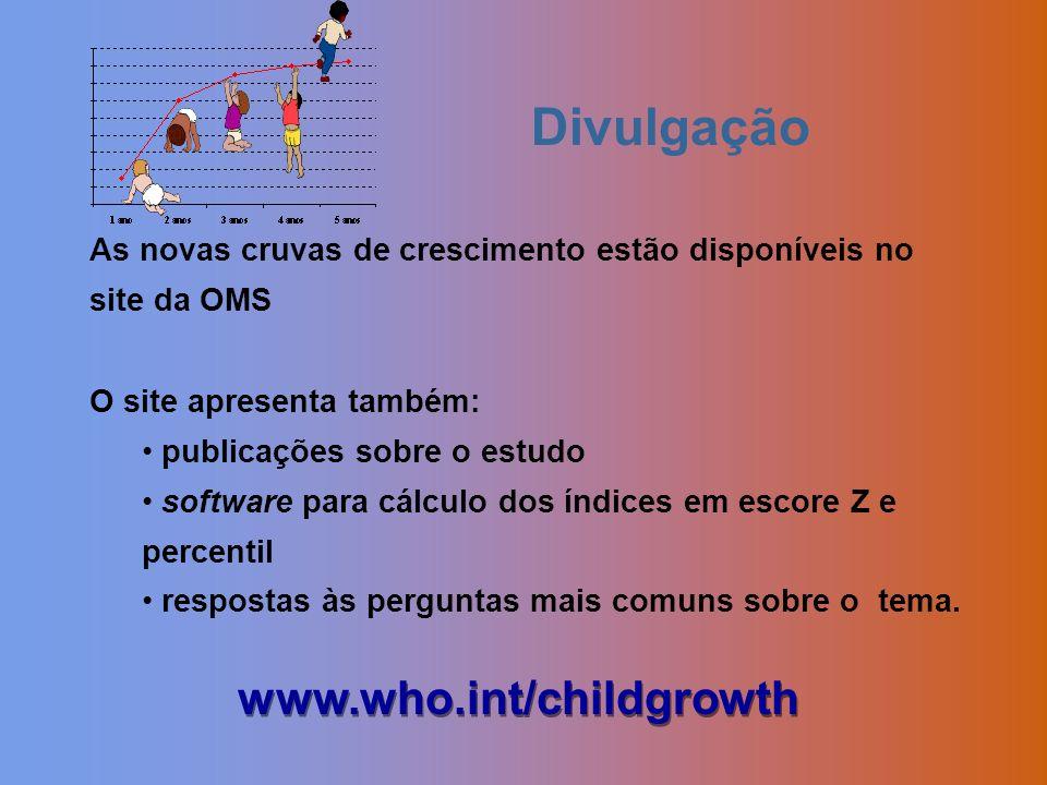 Divulgação www.who.int/childgrowth