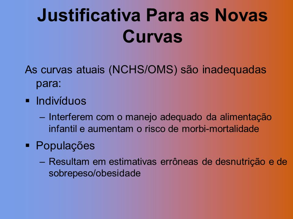 Justificativa Para as Novas Curvas