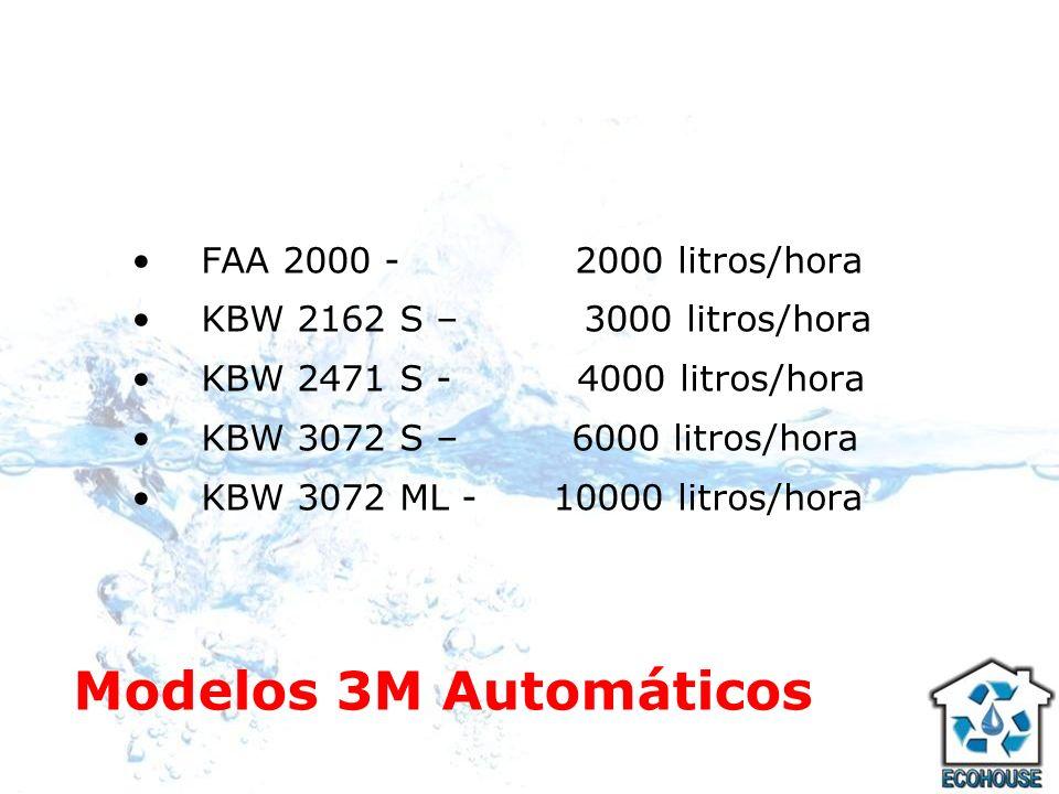 Modelos 3M Automáticos FAA 2000 - 2000 litros/hora