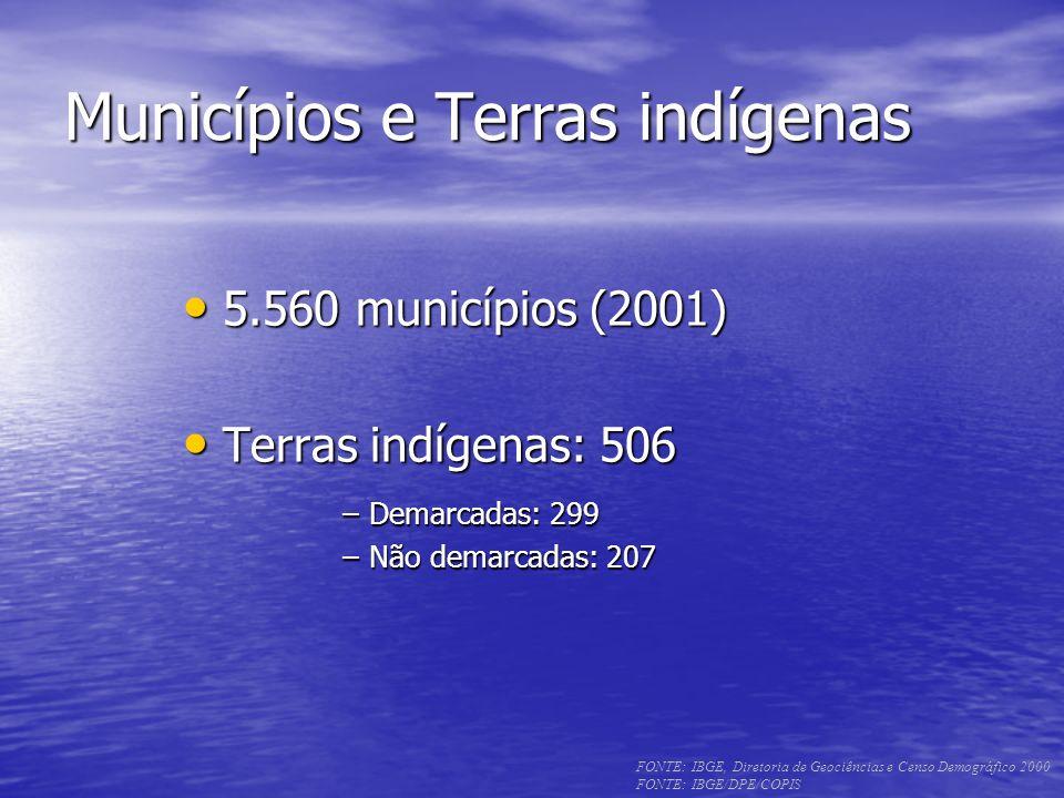 Municípios e Terras indígenas