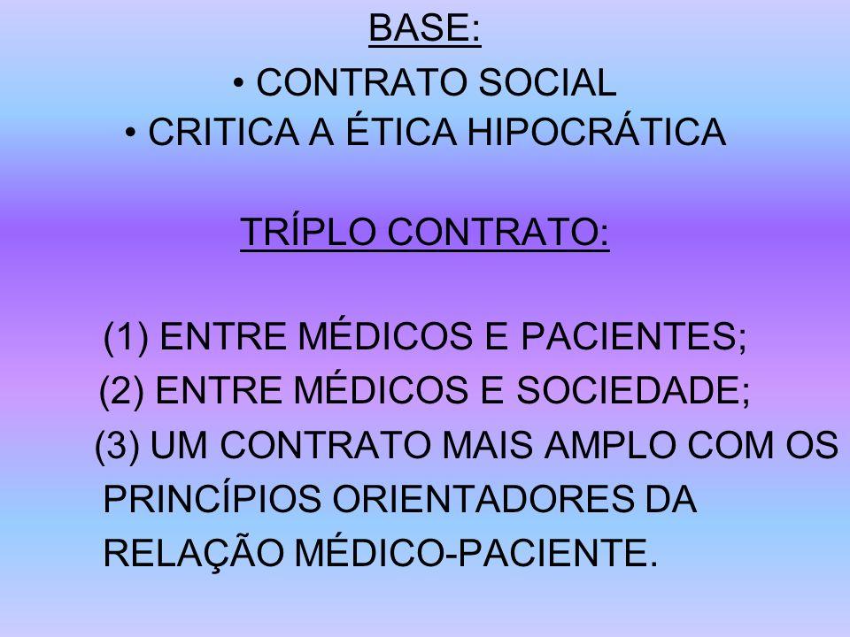 • CRITICA A ÉTICA HIPOCRÁTICA TRÍPLO CONTRATO: