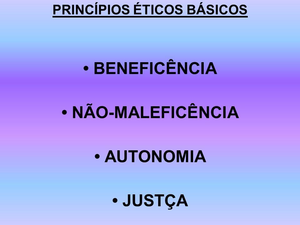 PRINCÍPIOS ÉTICOS BÁSICOS