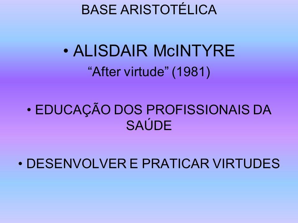 • ALISDAIR McINTYRE BASE ARISTOTÉLICA After virtude (1981)