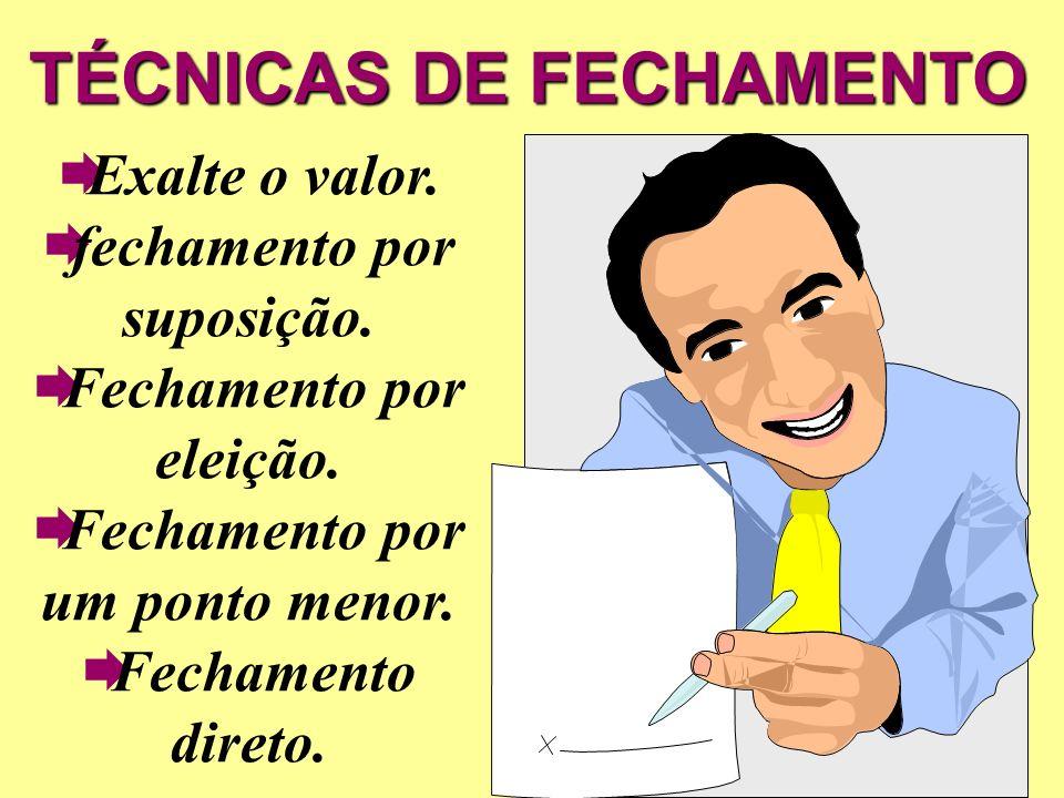 TÉCNICAS DE FECHAMENTO
