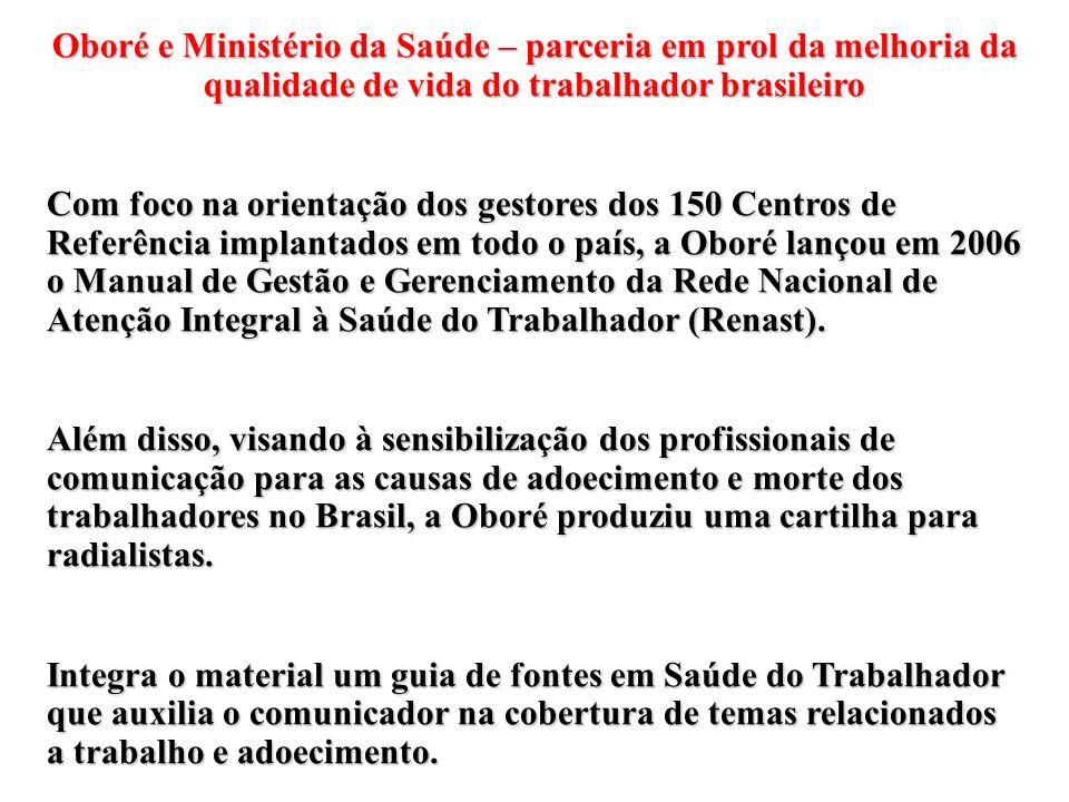 Oboré e Ministério da Saúde – parceria em prol da melhoria da qualidade de vida do trabalhador brasileiro