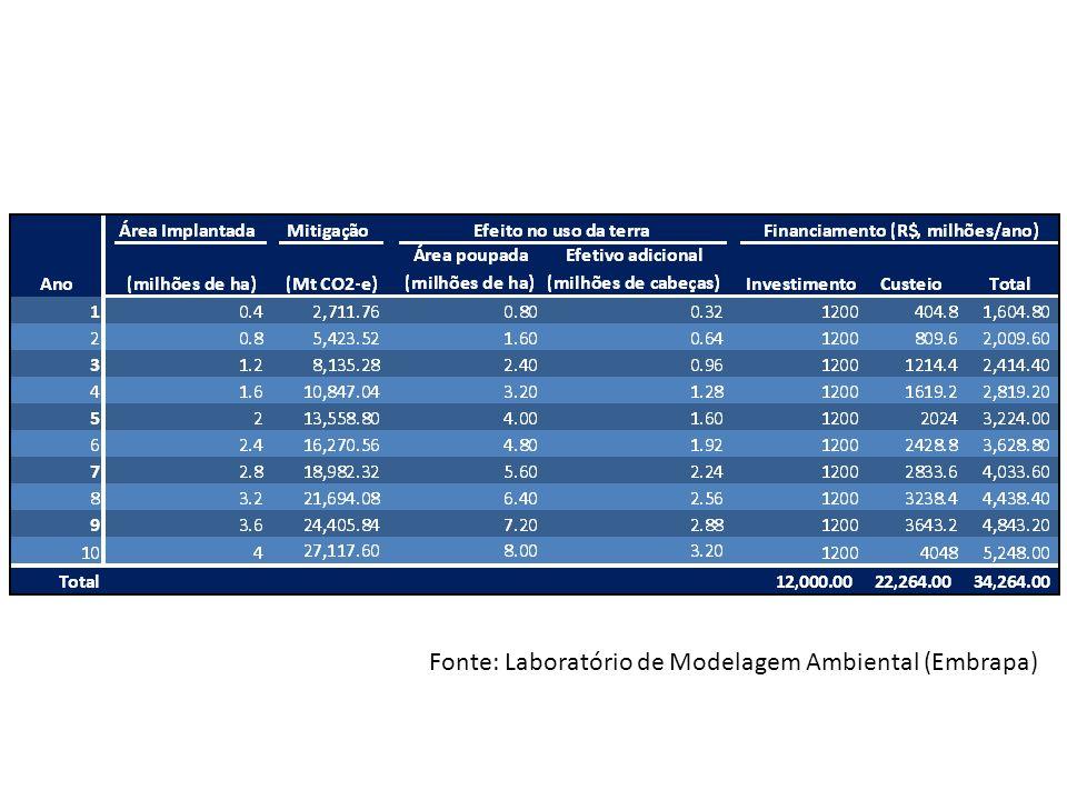 Fonte: Laboratório de Modelagem Ambiental (Embrapa)