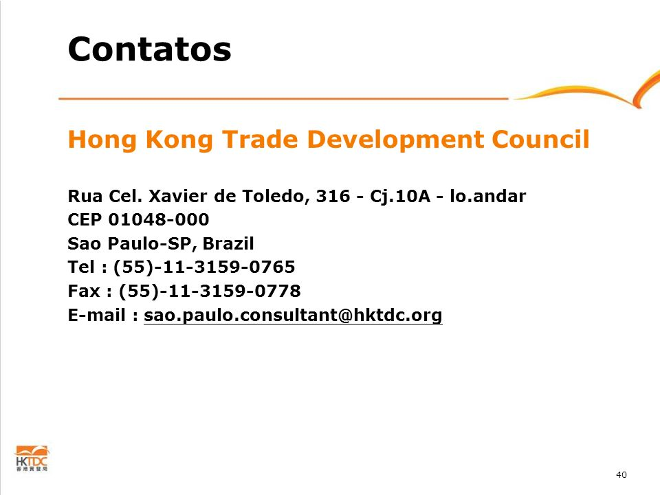 Contatos Hong Kong Trade Development Council